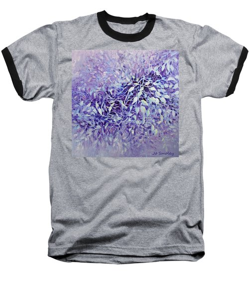 Baseball T-Shirt featuring the painting The Healing Power Of Amethyst by Joanne Smoley