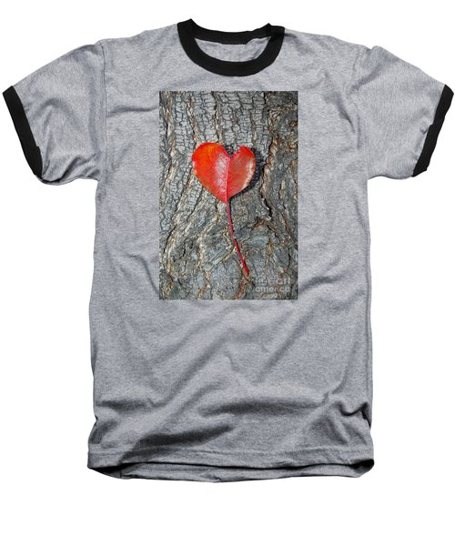 The Heart Of A Tree Baseball T-Shirt by Debra Thompson
