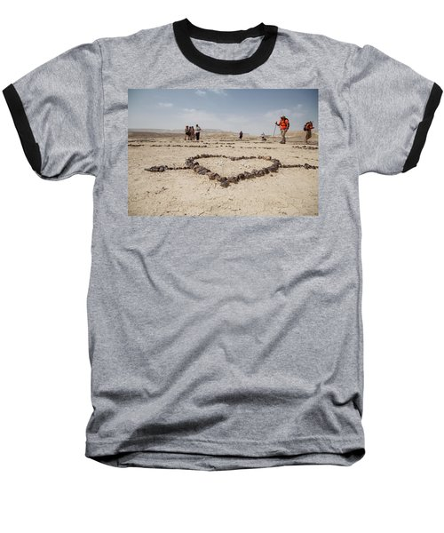 The Heart Of The Desert Baseball T-Shirt by Yoel Koskas