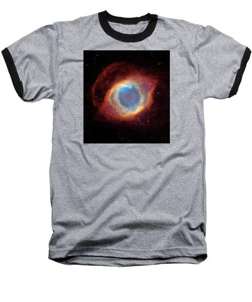 The Helix Nebula  Baseball T-Shirt by Hubble Space Telescope