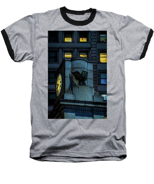 Baseball T-Shirt featuring the photograph The Herald Square Owl by Chris Lord