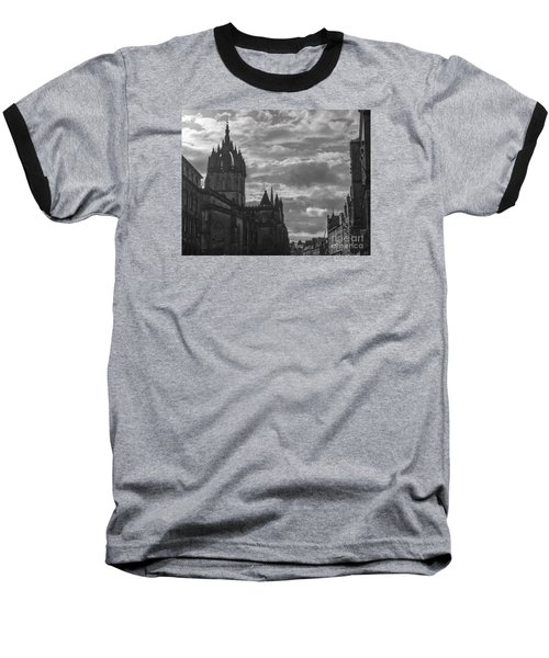 The High Kirk Of Edinburgh Baseball T-Shirt by Amy Fearn