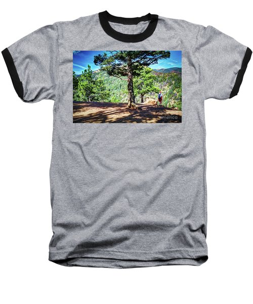 Baseball T-Shirt featuring the photograph The Hike by Deborah Klubertanz