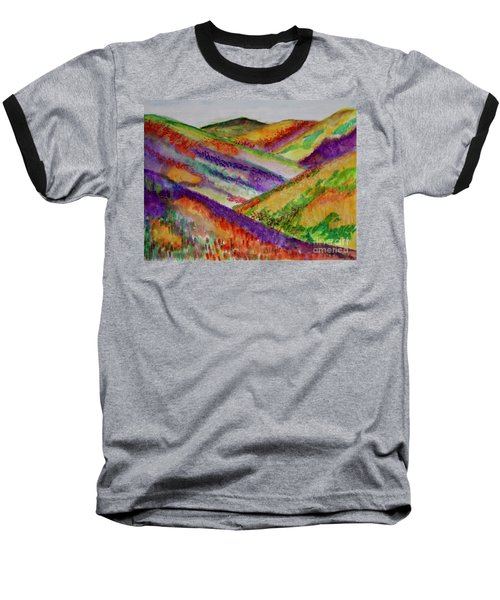 The Hills Are Alive Baseball T-Shirt by Kim Nelson