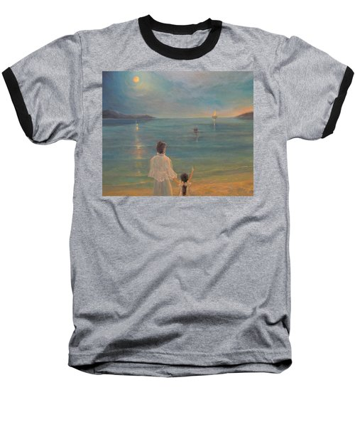 Baseball T-Shirt featuring the painting The Homecoming by Donna Tucker