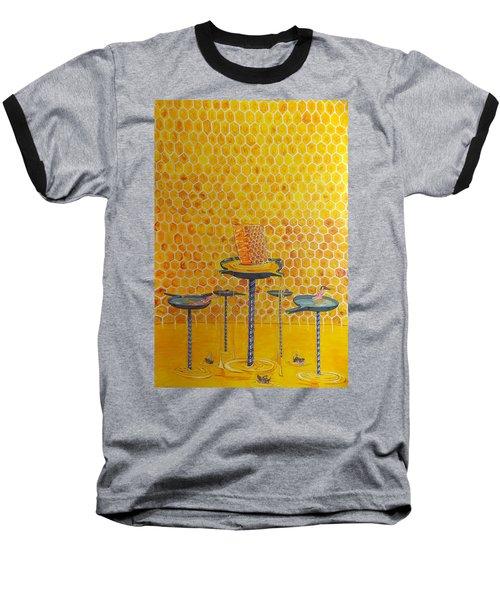 The Honey Of Lives Baseball T-Shirt by Lazaro Hurtado