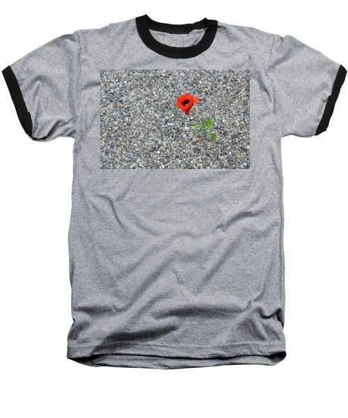 The Hopeful Poppy Baseball T-Shirt