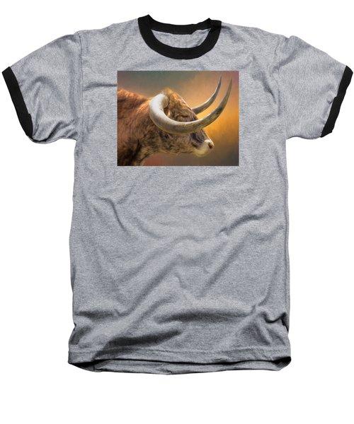 The Horns Baseball T-Shirt by David and Carol Kelly