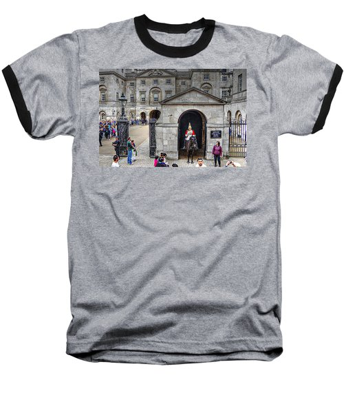 The Horse Guard At Whitehall Baseball T-Shirt by Karen McKenzie McAdoo