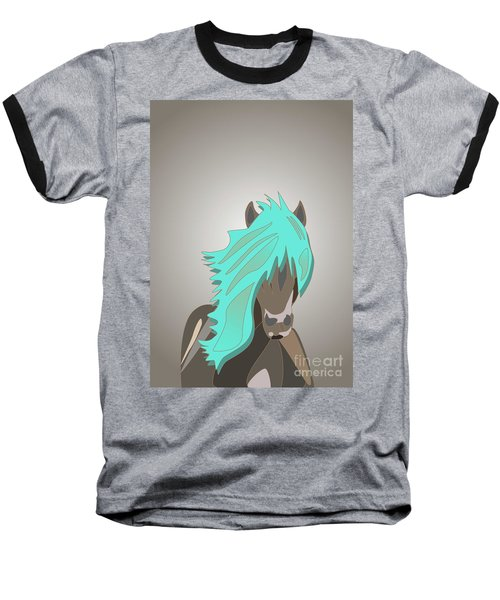 The Horse With The Turquoise Mane Baseball T-Shirt