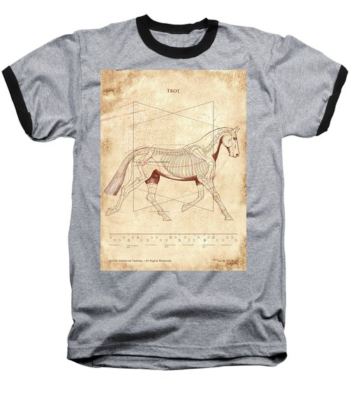 The Horse's Trot Revealed Baseball T-Shirt by Catherine Twomey
