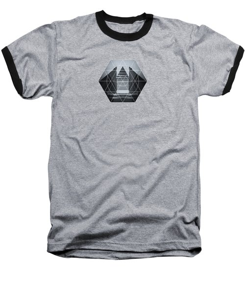 The Hotel Experimental Futuristic Architecture Photo Art In Modern Black And White Baseball T-Shirt by Philipp Rietz