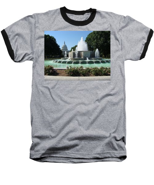 Baseball T-Shirt featuring the painting The House Of Democracy by Rod Jellison