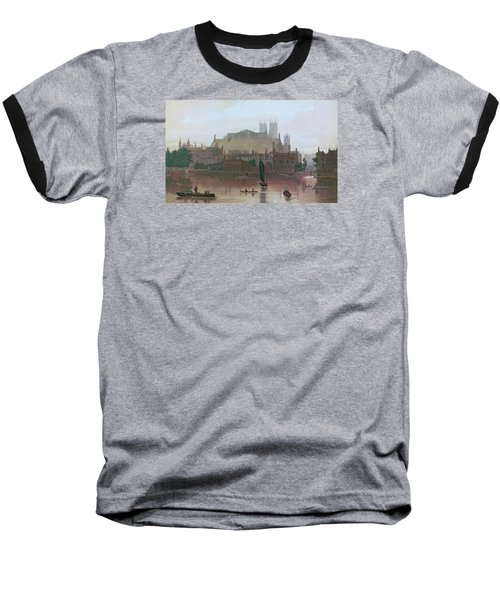 The Houses Of Parliament Baseball T-Shirt by George Fennel Robson