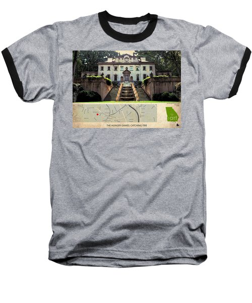 The Hunger Games Catching Fire Movie Location And Map Baseball T-Shirt by Pablo Franchi