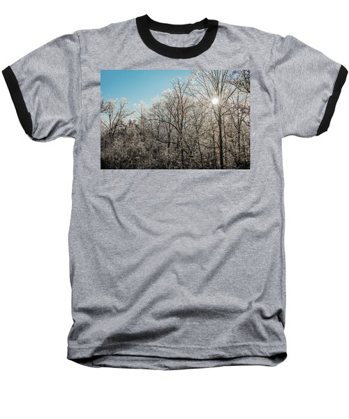 Baseball T-Shirt featuring the photograph The Ice Storm by Penny Lisowski