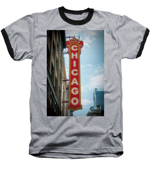 The Iconic Chicago Theater Sign Baseball T-Shirt