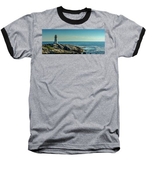 The Iconic Lighthouse At Peggys Cove Baseball T-Shirt by Ken Morris