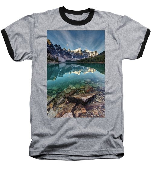 The Iconic Moraine Lake Baseball T-Shirt