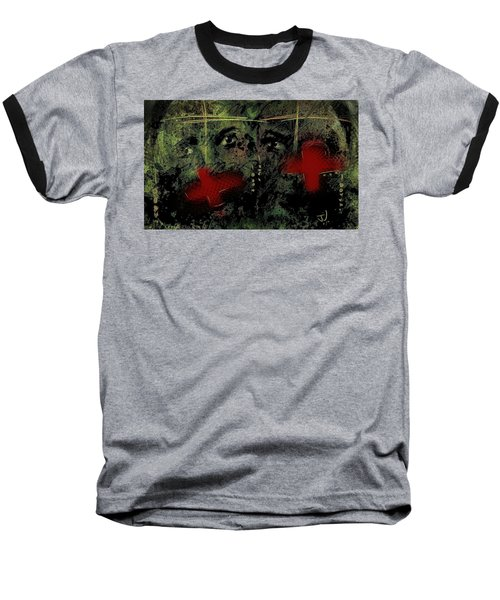 Baseball T-Shirt featuring the painting The Innocent by Jim Vance