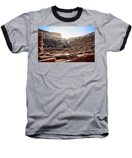 The Interior Of The Roman Coliseum Baseball T-Shirt