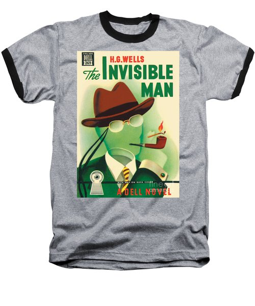 Baseball T-Shirt featuring the painting The Invisible Man by Gerald Gregg