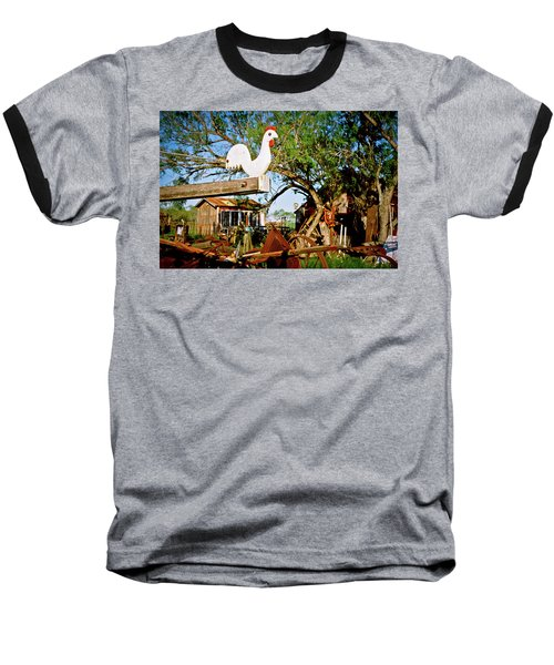 Baseball T-Shirt featuring the photograph The Iron Chicken by Linda Unger