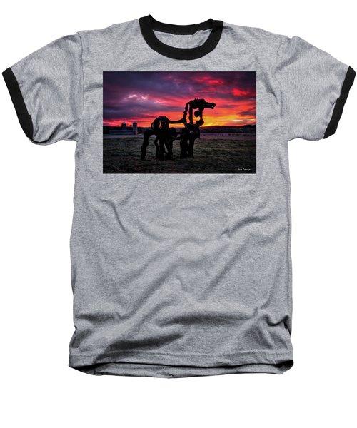 The Iron Horse Sun Up Baseball T-Shirt by Reid Callaway
