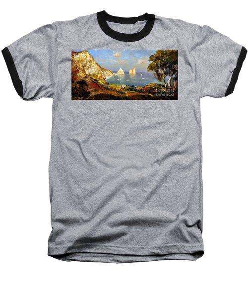 The Island Of Capri And The Faraglioni Baseball T-Shirt