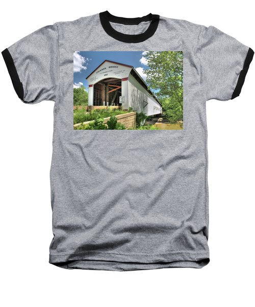 Baseball T-Shirt featuring the photograph The Jackson Covered Bridge by Harold Rau