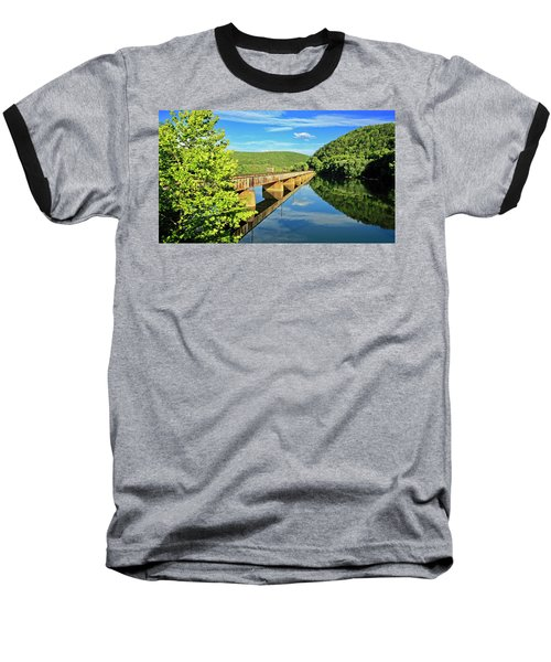 The James River Trestle Bridge, Va Baseball T-Shirt