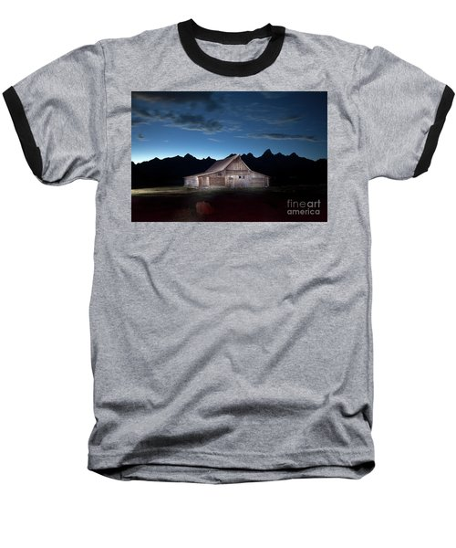 The John Moulton Barn On Mormon Row At The Base Of The Grand Tetons Wyoming Baseball T-Shirt