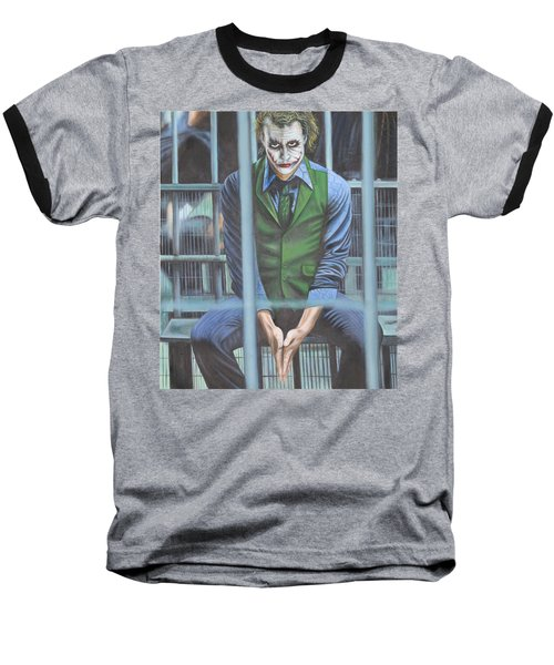 The Joker Baseball T-Shirt by Colm Hutchinson