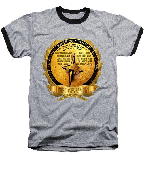 The Jones Family Crest Baseball T-Shirt