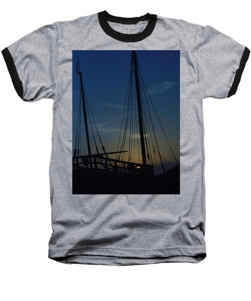 Baseball T-Shirt featuring the photograph The Journey Began by John Glass