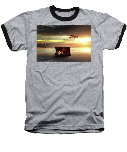 Baseball T-Shirt featuring the digital art The Journey Begins  by Nathan Wright