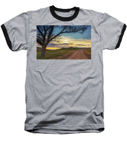 The Journey Home Baseball T-Shirt by Tassanee Angiolillo