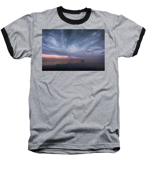 The Journey Of The Swans Baseball T-Shirt by Dominique Dubied