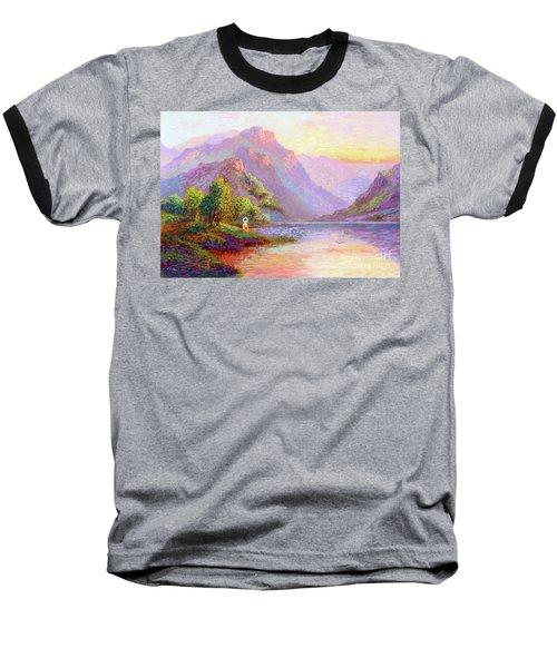 The Joy Of Being Buddha Meditation Baseball T-Shirt