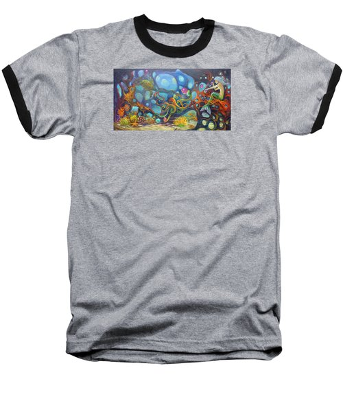 The Juggler Baseball T-Shirt by Claudia Goodell