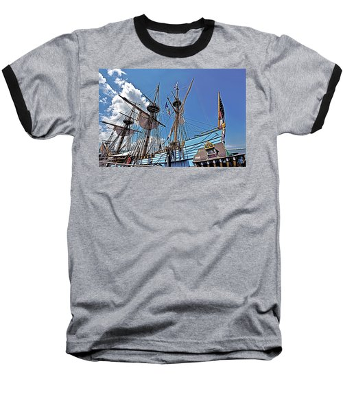 Baseball T-Shirt featuring the photograph The Kalmar Nyckel - Delaware by Brendan Reals