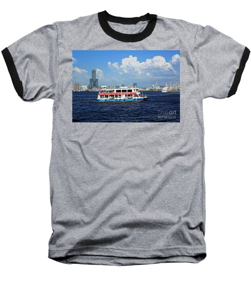Baseball T-Shirt featuring the photograph The Kaohsiung Harbor Ferry Crosses The Bay by Yali Shi