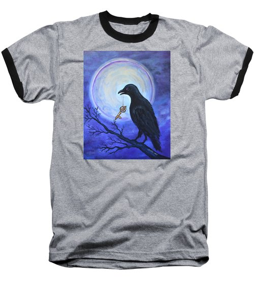 Baseball T-Shirt featuring the painting The Key by Agata Lindquist