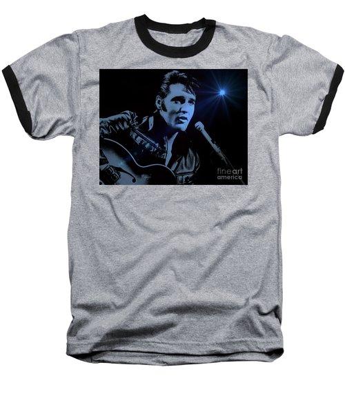 The King Rocks On Baseball T-Shirt by Al Bourassa