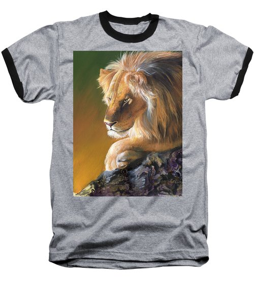 Baseball T-Shirt featuring the painting The King by Sherry Shipley