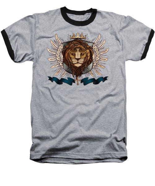 The King's Heraldry II Baseball T-Shirt by April Moen