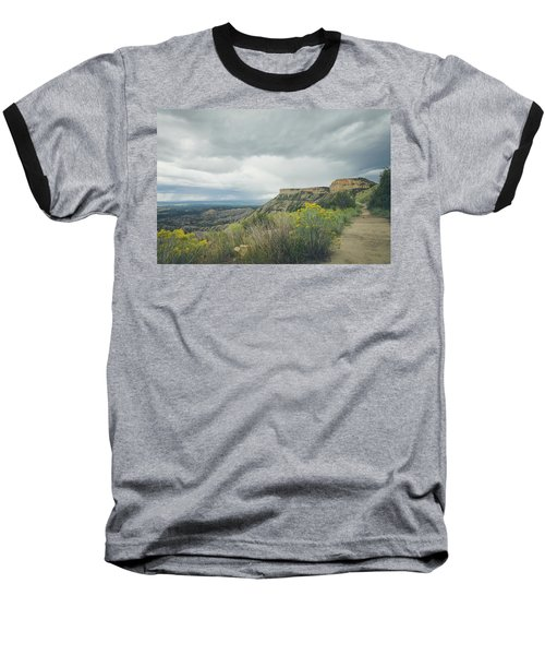 Baseball T-Shirt featuring the photograph The Knife's Edge by Margaret Pitcher