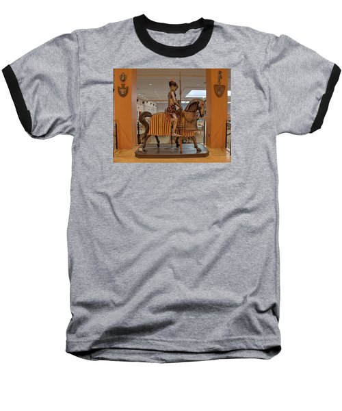 The Knight On Horseback Baseball T-Shirt by Mark Dodd