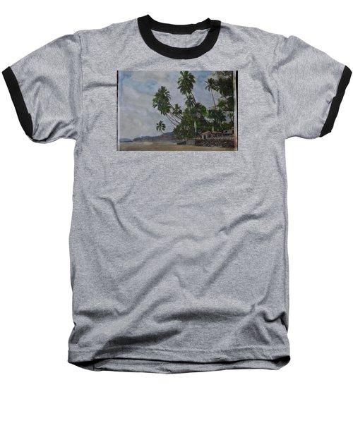 The Konkan Coastline Baseball T-Shirt by Vikram Singh