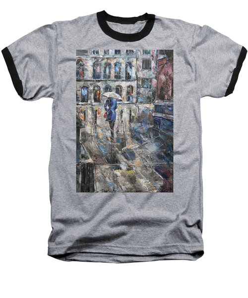 The Lady In Blue Baseball T-Shirt